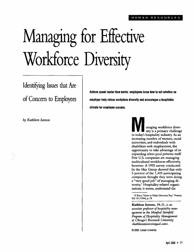 How can i write a term paper on blind employees in a successful managment of diverse workforce?