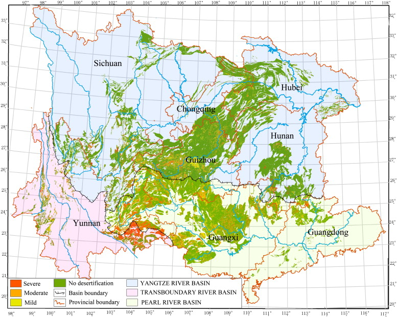 Distribution And Classification Of Rocky Desertification Areas In Southwest