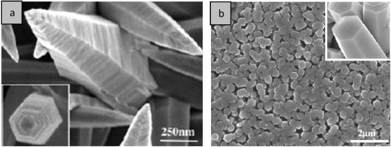 SEM images of the ZnO nanostructures obtained by electrodeposition at constant ...
