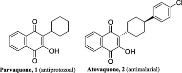 Image result for A new combination of cyclohexylhydrazine and IBX for oxidative generation of cyclohexyl free radical and related synthesis of parvaquone