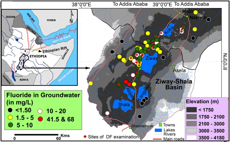 Groundwater Sampling Sites With Measured F Concentrations And Sites That