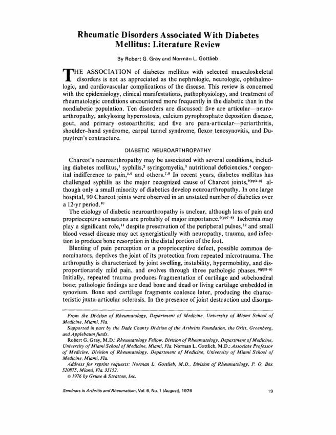 Literature review on diabetes