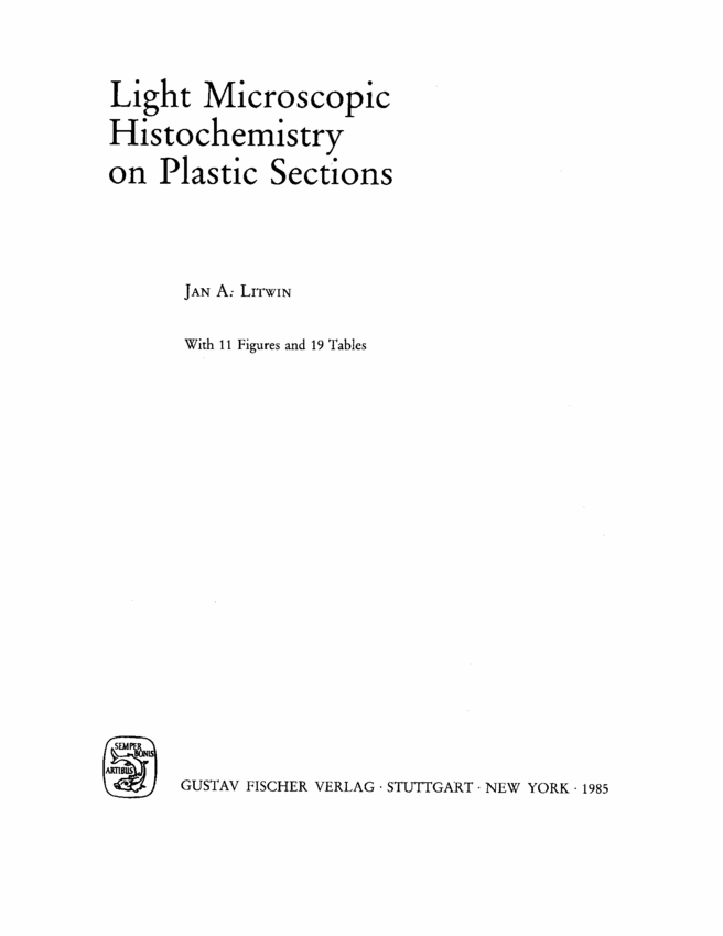 histochemical and cytochemical methods of visualization pdf free
