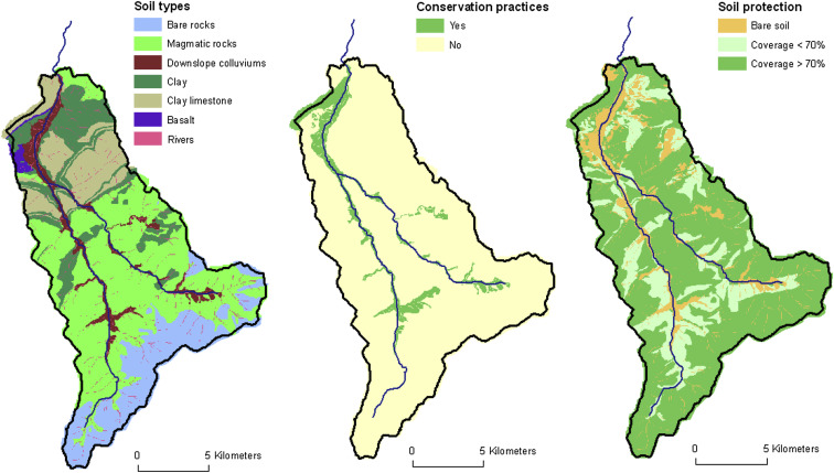 Land Use And Climate Change Effects On Soil Erosion In A Semiarid - Us soil buffering capacity limestone map