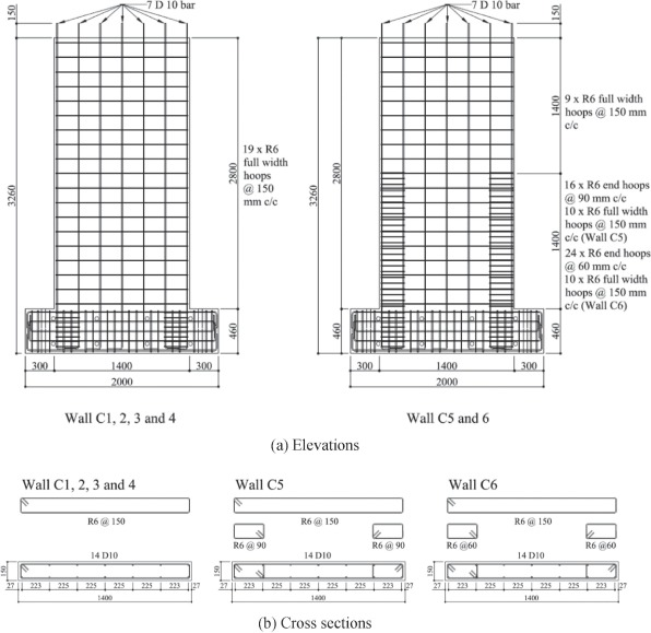 Reinforced Concrete Wall Design Example Concrete Bat Finishing New Concrete  Wall Design Example · Patent Drawing · Details Of Test Wall Specimens ...