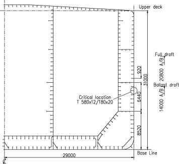 طراحی سازه کشتی تانکر با آیین نامه DNV