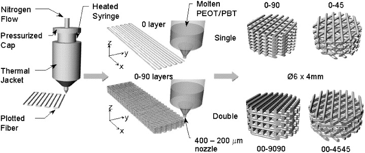 3D fiber-deposited scaffolds for tissue engineering: Influence of ...