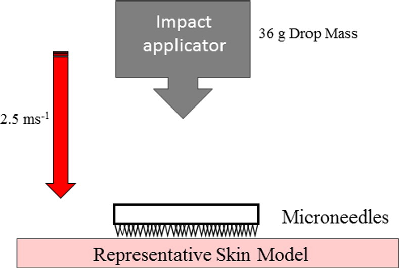 In vitro experimentation of microneedles with impact testing [Moronkeji et al., Journal of Controlled Release, 2016).