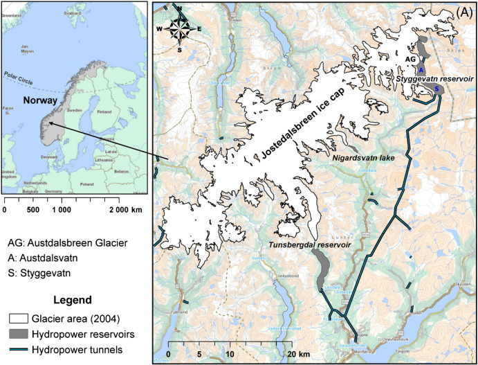 Early And Late Holocene Sediment Yield Of Austdalsbreen Glacier - Norway glacier map