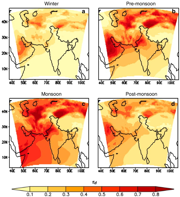 Examining mineral dust transport over the Indian subcontinent