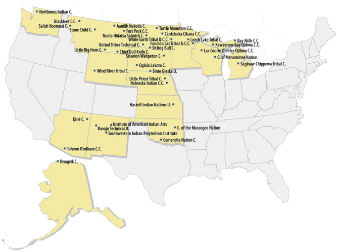Indian Nation Map Us Globalinterco - Indian nation map us