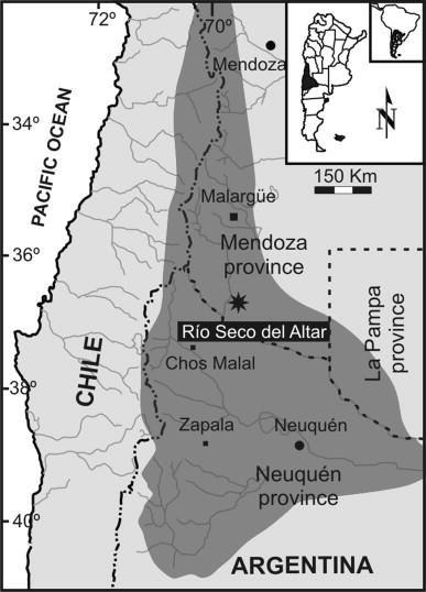 Early Cretaceous Crustacean Microcoprolites From Sierra De La Cara - Zapala argentina map