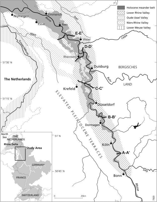 Complex Fluvial Response To Lateglacial And Holocene Allogenic - Rhine valley germany map