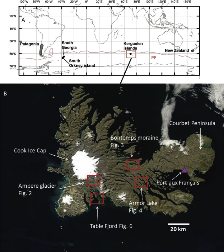 SubAntarctic Glacier Extensions In The Kerguelen Region S - Epoc maps illistrating us history