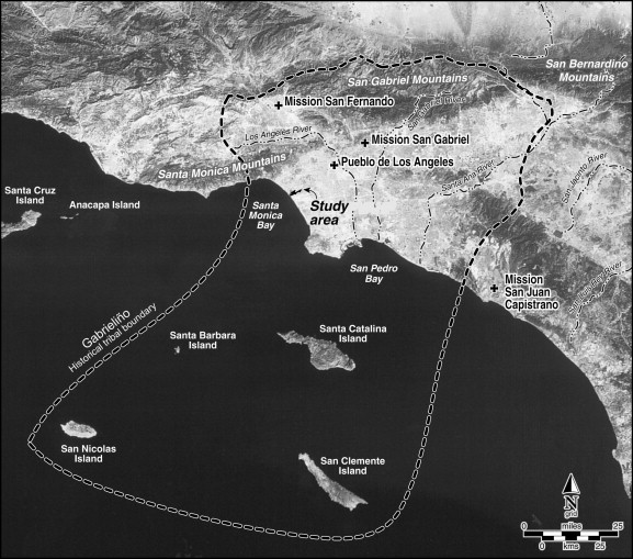 Overview Map Showing Location Of Study Area In Coastal Southern California