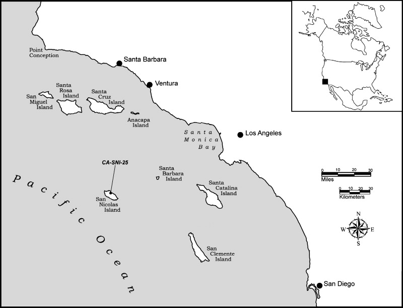 Map Of The California Bight Showing The Location Of Ca Sni 25 On San