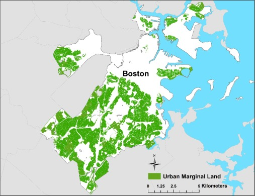 Geospatial Assessment Of Potential Bioenergy Crop Production On - Us map marginal lands