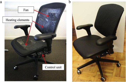 Energyefficient comfort with a heatedcooled chair Results from
