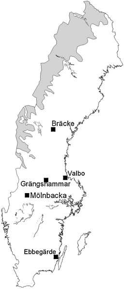 Compositional Changes Of Forestfloor Vegetation In Young Stands - Sweden vegetation map