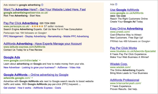 Differentiation Of Online Text-Based Advertising And The Effect On
