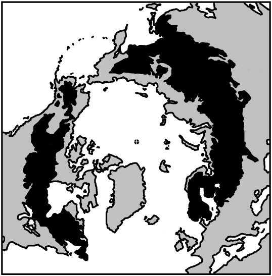 A Sketch Map North Polar Projection Showing The Distribution Of The Extant