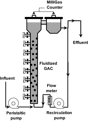 Schematic Diagram Of The Anaerobic Fluidized Bed Reactor