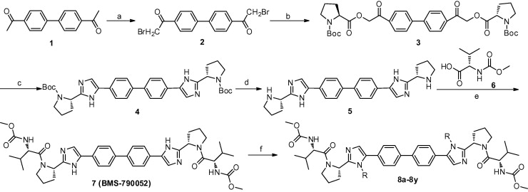 Synthetic route for the preparation of the target compounds 8a–8y. Reagents and ...