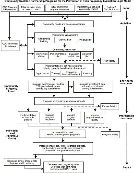 This logic model was developed to assist in the evaluation of the CCPP and ...