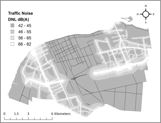 Spatial Distribution Of Traffic Noise Based On Emission And Dispersion Modelling