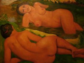 Aristide Maillol, Les deux baigneuses ou Dina de dos et profil 1938