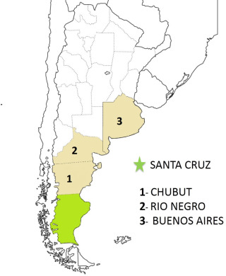 Analysis Of The Genetic Structure Of Santa Cruz Province And It - Argentina map with provinces