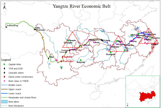 The development of chinas yangtze river economic belt how to make color online the location of the yangtze river economic belt yreb and publicscrutiny Image collections