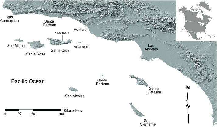 Map Of California S Channel Islands Including The Location Of