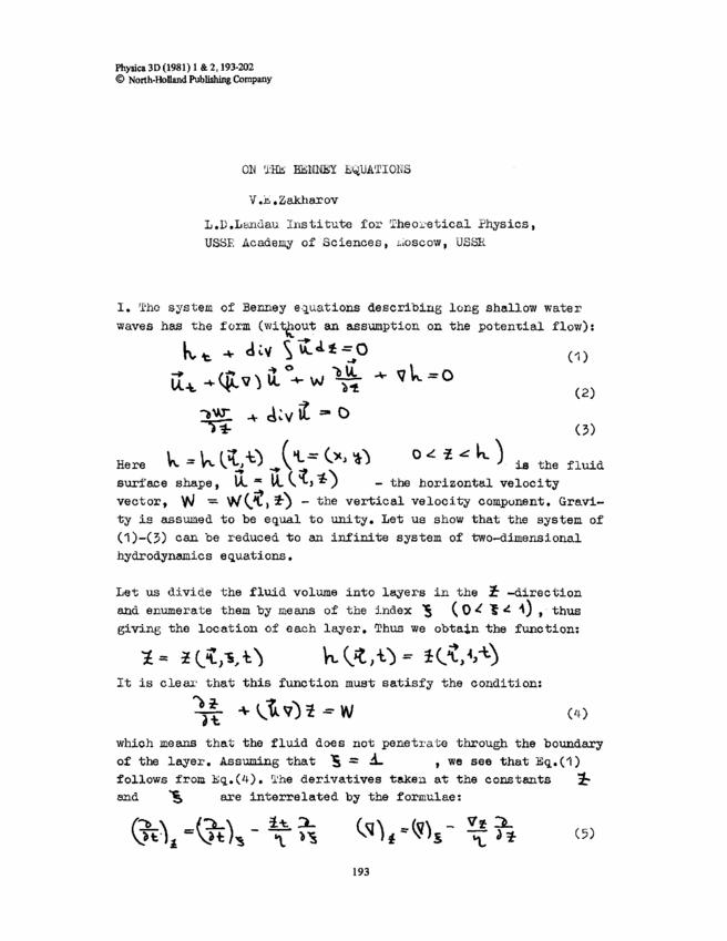 main equations physics