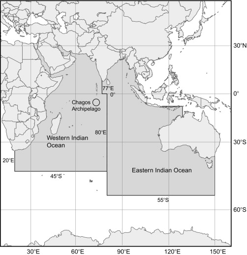 the indian ocean tuna commission iotc areas of competence the chagos biot is situated in the western indian ocean sub area