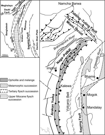 orogenic belt of india myanmar border ranges sciencedirect Myanmar Park download full size image