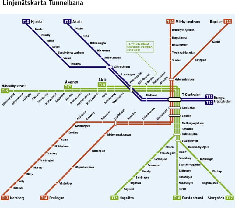Stockholm Subway Map Pdf.Temporal And Spatial Patterns Of Suicides In Stockholm S Subway