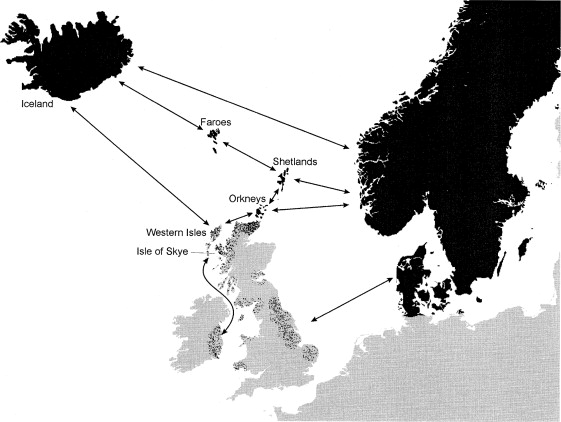 mtDNA and the Islands of the North Atlantic: Estimating the