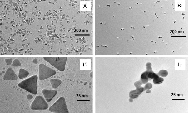 A colorimetric method for highly sensitive and accurate detection of representative tem images of silver tnps before a and after b interaction with 05 m of iodide ion for 30 min the image c and d is a magnification of fandeluxe Image collections