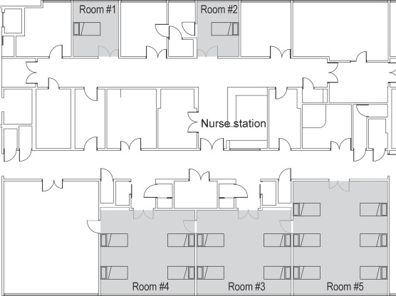 Acoustic environments of patient room in a typical geriatric