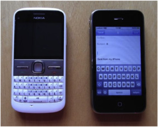 Texting with touchscreen and keypad phones - A comparison of