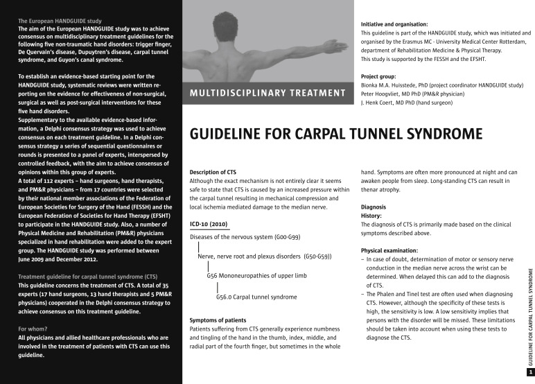 carpal tunnel syndrome research paper