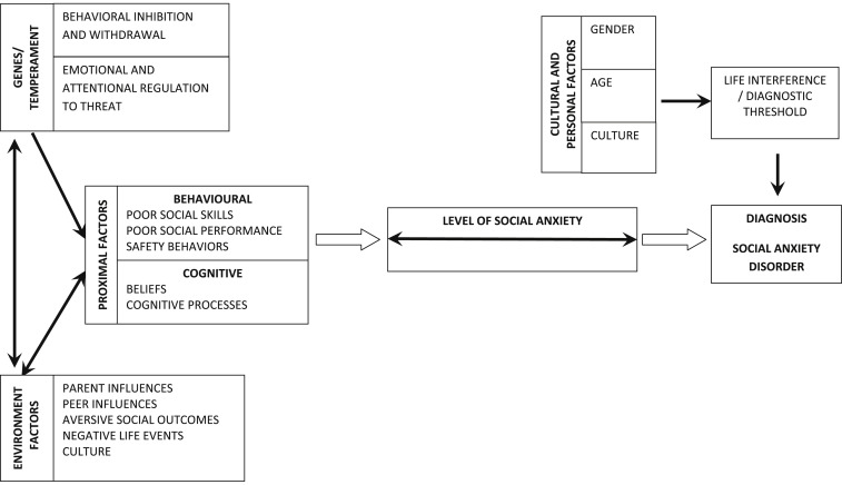 The etiology of social anxiety disorder: An evidence-based model -  ScienceDirect