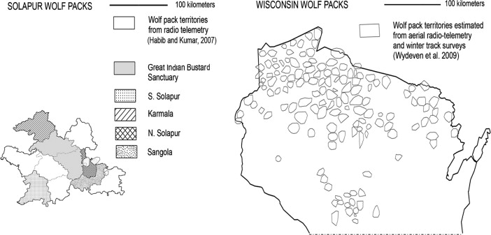 Paying for wolves in Solapur, India and Wisconsin, USA: Comparing