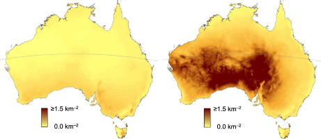 Enumerating a continental scale threat how many feral cats are in for islands smaller than tasmania island area was also included as a predictor of density small islands have higher cat densities gumiabroncs Choice Image