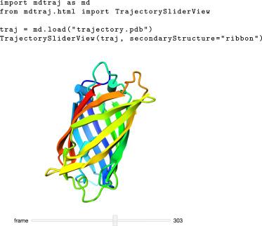 MDTraj: A Modern Open Library for the Analysis of Molecular Dynamics
