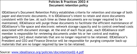 The Legal Implications Of Electronic Document Retention Changing