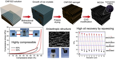 Highly compressible ultra-light anisotropic cellulose