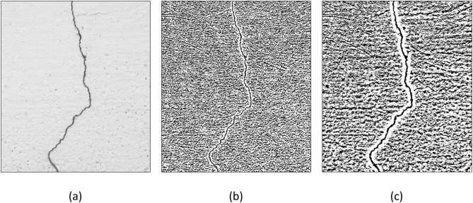 Comparative analysis of image binarization methods for crack