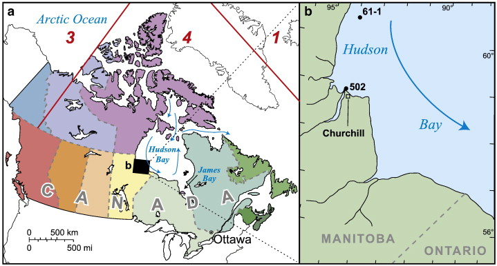Climateforced change in Hudson Bay seawater composition and